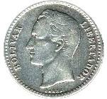 50 centimos (argent sans marque d'atelier) – revers