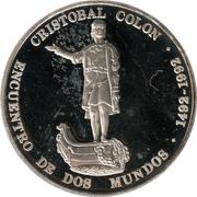 1100 bolivar (Christophe Colomb) – revers