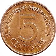 5 centimos (acier plaqué cuivre) – revers