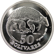50 bolivares (Tatou) – revers