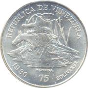 75 bolivars (Antonio José de Sucre) – avers