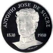75 bolivars (Antonio José de Sucre) – revers