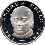 100 bolivares (Bicentenaire de la naissance d'Andres Bello) – revers