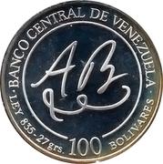 100 bolivares (Bicentenaire de la naissance d'Andres Bello) – avers