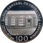 100 bolivars (Bicentenaire de la naissance de Simon Bolivar) – avers
