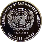 500 bolivars (ONU) – revers
