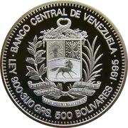 500 bolivars (ONU) – avers