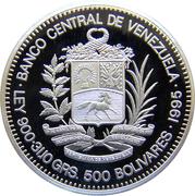 500 bolivars (Bicentenaire de la naissance de Sucre) – avers