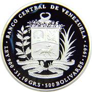 500 bolivars (Bicentenaire de la conspiration) – avers