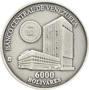 6000 bolivars (Maison de la monnaie de Maracay) – avers