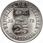 25 centimos (nickel) -  avers