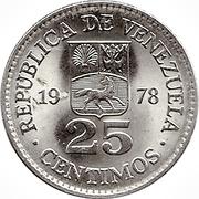 25 centimos (nickel) -  avers