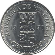 25 centimos (acier plaqué nickel) – avers