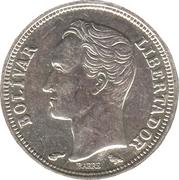 50 centimos (argent avec marque d'atelier) – revers