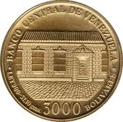 3000 bolivars (Bicentenaire de la naissance de Simon Bolivar) – avers