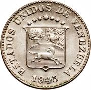 5 centimos (blason petit et rectangulaire - cupronickel) – avers