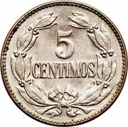 5 centimos (blason petit et rectangulaire - cupronickel) – revers
