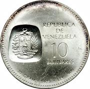 10 bolivars (Simon Bolivar) – avers