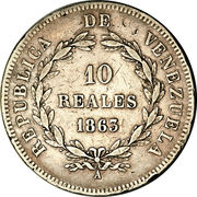 10 reales – revers