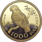 1000 bolivars (Coq-de-roche) – revers