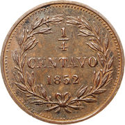 ¼ Centavo – revers