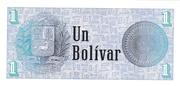 1 Bolívar – revers