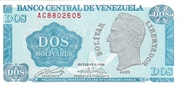 2 Bolívares – avers
