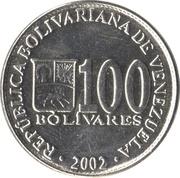 100 bolivars -  avers