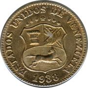 5 centimos (blason arrondi et grand) – avers