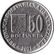 50 bolivars -  avers