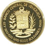5000 bolivars (Rafael Urdaneta) – avers