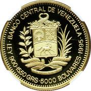 5000 bolivars (Antonio José de Sucre) – avers