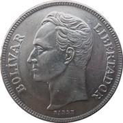 5 bolivars (nickel) -  revers