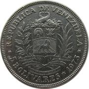 5 bolivars (nickel) – avers