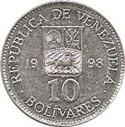 10 bolivars – avers