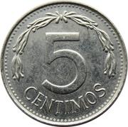 5 centimos (acier plaqué nickel) – revers