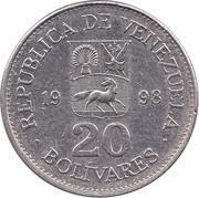 20 bolivars – avers