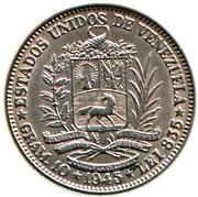 2 bolivars (argent, sans marque d'atelier) – avers