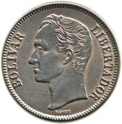 2 bolivars (argent, sans marque d'atelier) – revers