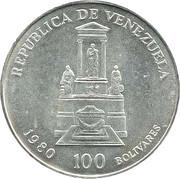 100 bolivars (Simón Bolivar) – avers