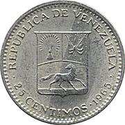 25 centimos (nickel) – avers