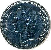 2 bolívars (acier plaqué nickel) – revers