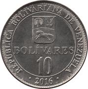 10 bolivars – revers