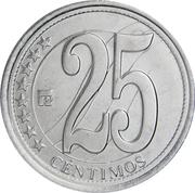 25 centimos (Indépendance) – revers