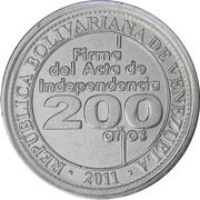 25 centimos (Signature de l'Indépendance) – avers