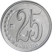 25 centimos (Signature de l'Indépendance) – revers