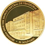 50 Bolívares (Banque centrale) – revers
