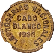 0.12½ Bolívar (Cabo Blanco Leper Colony) – avers