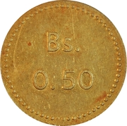 0.50 Bolívar (Cabo Blanco Leper Colony) – revers
