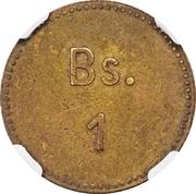 1 Bolívar (Cabo Blanco Leper Colony) – revers